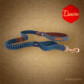 Поводок Zero Shock Denim EzyDog